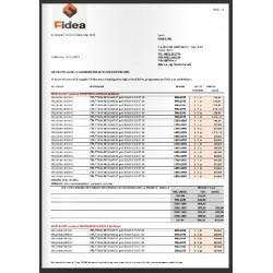 Listino prezzi reti e accessori letti con contenitore