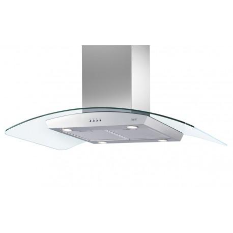 Cappa isola 90 cm acciaio inox e vetro best delta island for Cappe d arredo