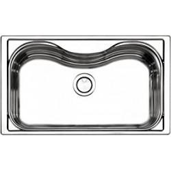 Apell lavello Criteria da incasso monovasca 86*50 cm acciaio inox spazzolato