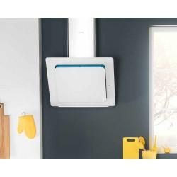 Cappa a parete Silverline 3431 | 80 cm, acciaio inox + vetro temperato bianco