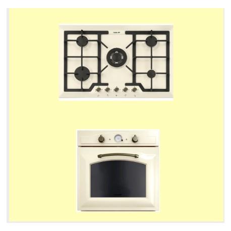 Piano cottura e forno elettrico Foster color avorio | Fidea Lecce