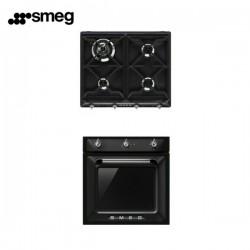Set cottura Smeg: forno ventilato SF6903N e piano cottura 4 fuochi SR964NGH