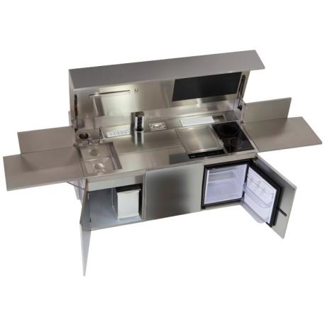 Cucina da esterni in acciaio inox marino AISI 316 Foster Finalmente