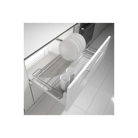Scolapiatti mobile con vaschetta in alluminio