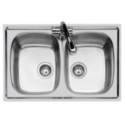 Lavello due vasche incasso 79*50 Foster 1279560