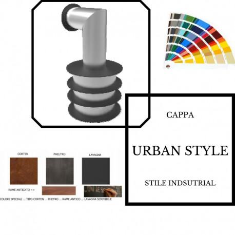 Cappe autoaspirante parete urban style sat cappe cucina for Cappe d arredo