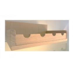 Mensola portabottiglie da parete personalizzabile
