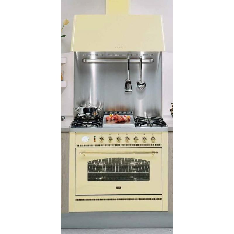 Cucina ilve p90n professionl nostalgie piano cottura fry - Cucina a gas da 90 ...