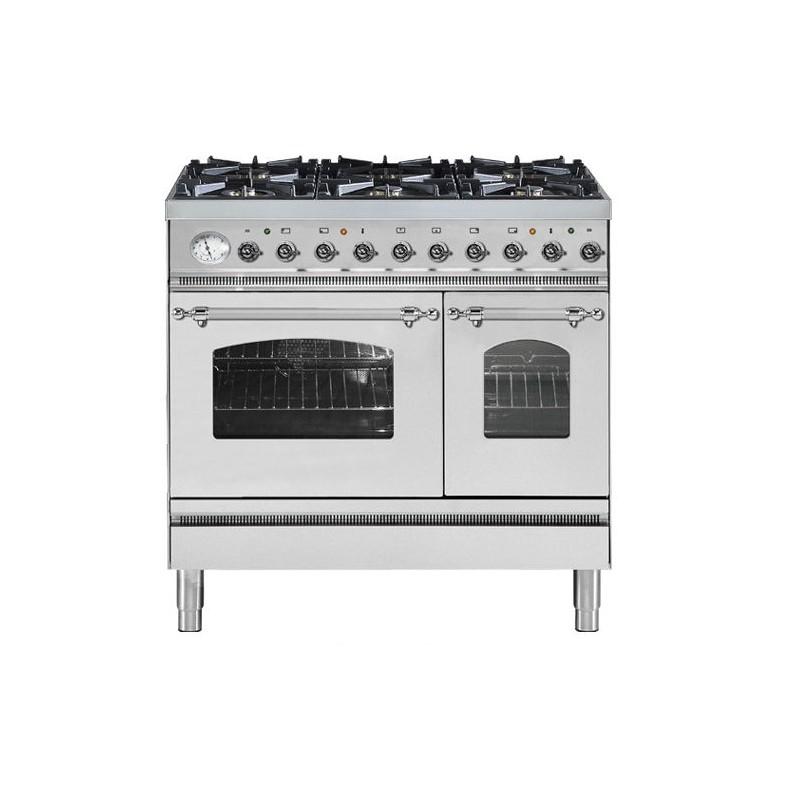 Cucina ilve pd90n doppio forno piano cottura 6 for Piano cottura cucina