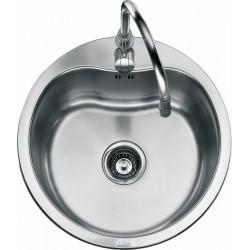 Lavello Foster Rondo' - Lavello circolare semifilo 1051060 | Diametro 553 cm base 60 cm - acciaio inox