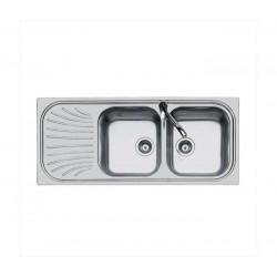 Lavello Foster 1912061 - 2 vasche acciaio inox dx