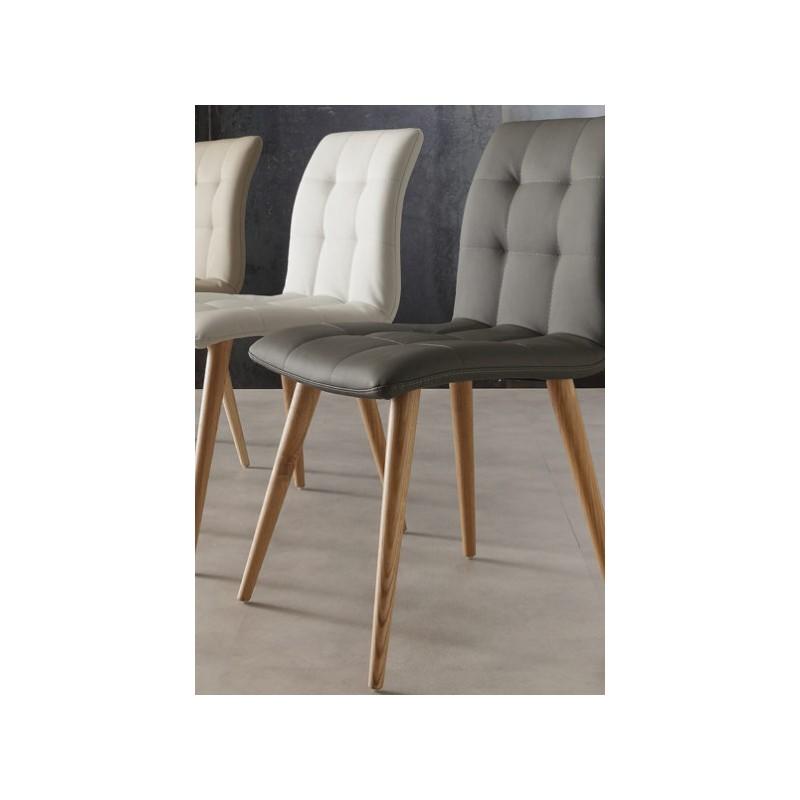 Sedia design per sala da pranzo finland fidea lecce for Sedie design legno naturale